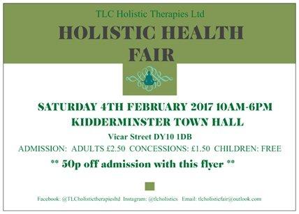 Holistic Health Fair 2017 – Saturday 4th February